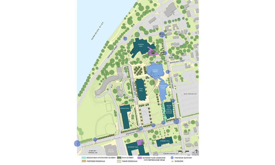 Uml North Campus Map.Umass Lowell South Campus Master Plan Crosby Schlessinger