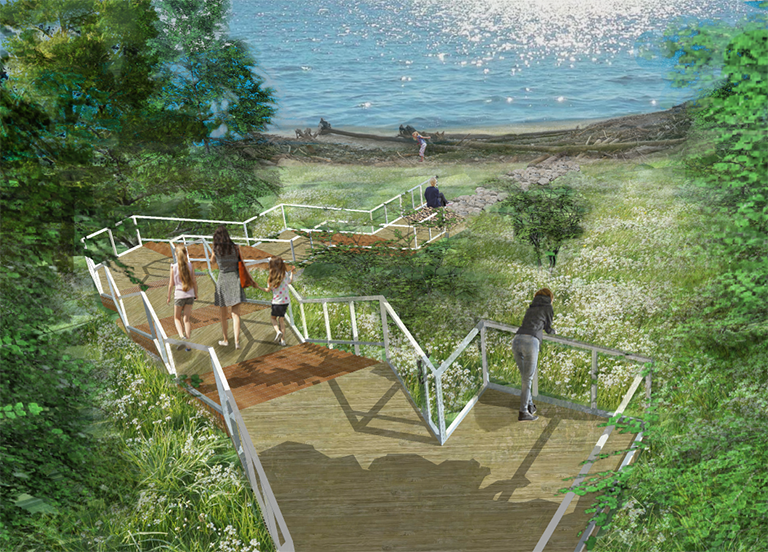 Lake Erie Bluffs Stairway Beginning Construction! | Crosby Schlessinger  Smallridge | Landscape Architecture, Planning, U0026 Urban Design